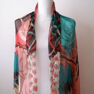 Rose Pink Figured Scarf